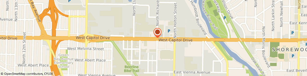 Route/map/directions to Checker Auto Parts, 53212 Milwaukee, 272 EAST CAPITOL DRIVE