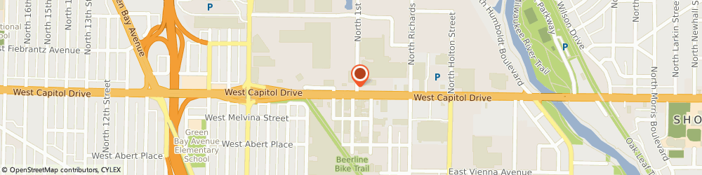 Route/map/directions to Mofoco - Auto Repairing Shop, 53212 Milwaukee, 102 WEST CAPITOL DRIVE