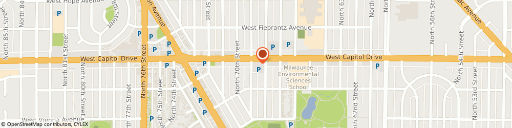 Route/map/directions to Aggressive Pitbull Detective Agency, 53216 Milwaukee, 6815 W Capitol Dr