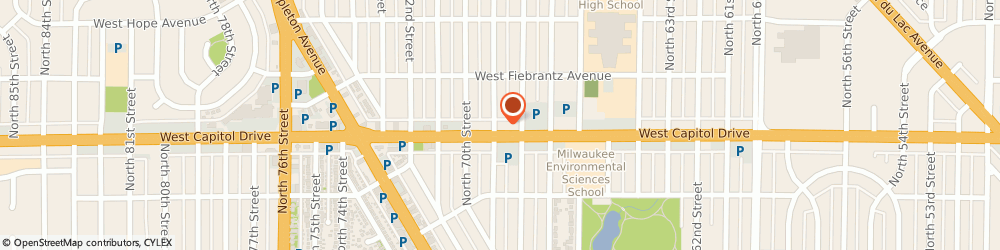 Route/map/directions to Trans-X-Press, 53216 Milwaukee, 6826 W Capitol Dr