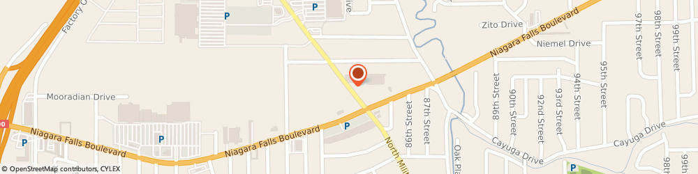 Route/map/directions to Bank of America, 14304 Niagara Falls, 1263 MILITARY RD