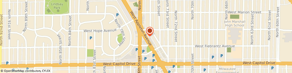 Route/map/directions to Capitol Car Center, 53216 Milwaukee, 7550 W APPLETON AVE