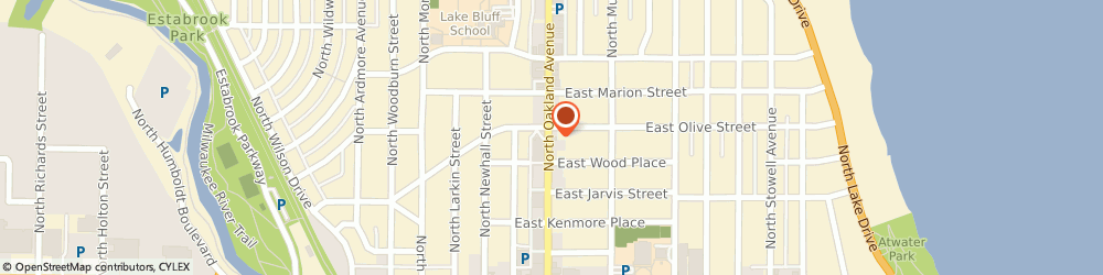 Route/map/directions to Starbucks Coffee Shorewood-Oakland & Olive, 53211 Milwaukee, 4170 N. Oakland Avenue