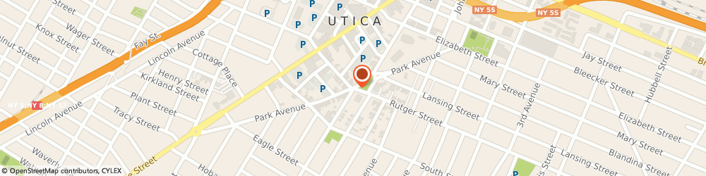 Route/map/directions to Fort Orange Claims Service, 13501 Utica, 100 Rutger Street # 1