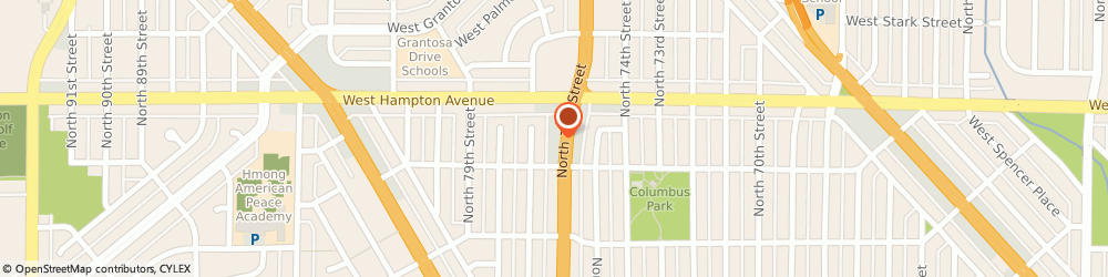 Route/map/directions to Humpties Auto Maintenance Inc, 53218 Milwaukee, 4735 N 76Th St