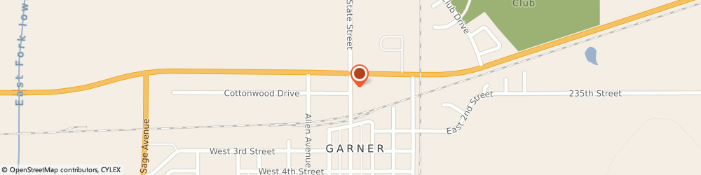 Route/map/directions to Tesene & Young, 50438 Garner, 55 State St