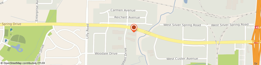 Route/map/directions to Sterling Law Offices, S.C., 53051 Menomonee Falls, N56 W13405 Silver Spring Drive