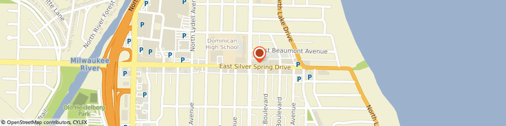Route/map/directions to Starbucks Coffee, 53217 Milwaukee, 302 EAST SILVER SPRING DRIVE