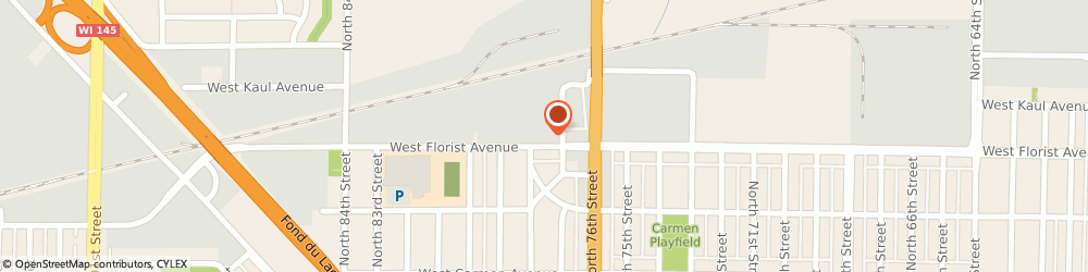 Route/map/directions to Elmars Auto Body, 53218 Milwaukee, 7740 W Florist Ave