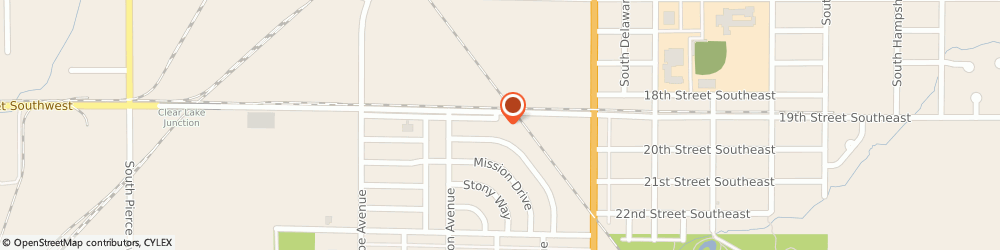 Route/map/directions to Animal Medical Hospital, 50401 Mason City, 153 19TH STREET SOUTHWEST