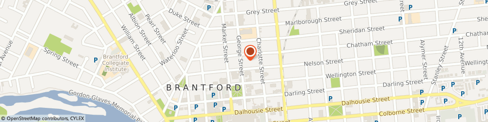 Route/map/directions to Aligned Capital Partners Inc., N3T 2Y5 Brantford, 105 George Street