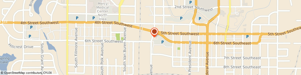 Route/map/directions to Pioneer Animal Hospital, 50401 Mason City, 508 6TH STREET SOUTHWEST