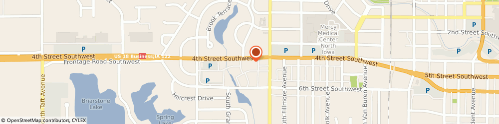 Route/map/directions to Fry Daryl Dr Optometrist, 50401 Mason City, 1411 4TH STREET SOUTHWEST
