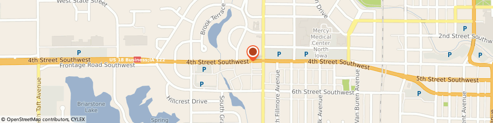 Route/map/directions to Aaa Travel, 50401 Mason City, 1425 4Th Street Southwest