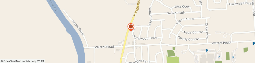 Route/map/directions to Little Caesars Pizza, 13090 Liverpool, 7871 Oswego Rd.