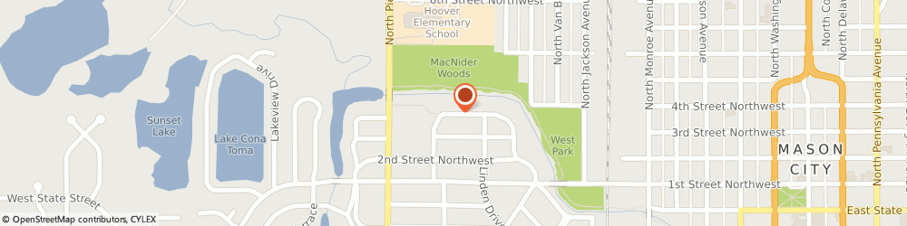 Route/map/directions to Novacare Orthotics & Prosthetics, 50401 Mason City, 250 SOUTH CRESCENT DRIVE