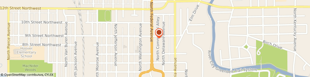 Route/map/directions to Casey's General Store, 50401 Mason City, 813 N FEDERAL AVE