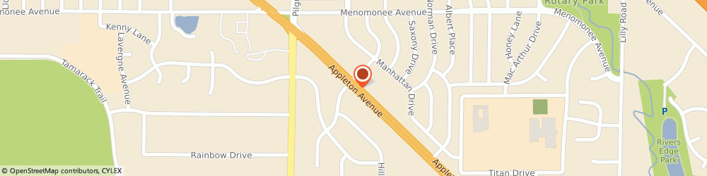 Route/map/directions to American Family Insurance - Agents, Carney Linda, 53051 Menomonee Falls, N87W16459 APPLETON AVENUE
