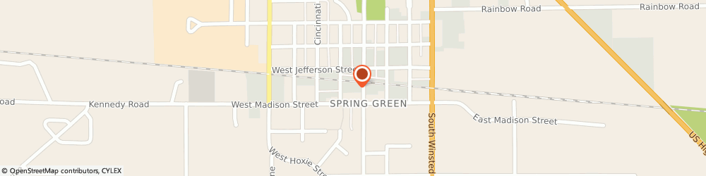 Route/map/directions to Navy Federal Credit Union, 53588 Spring Green, 166 South Lexington Street