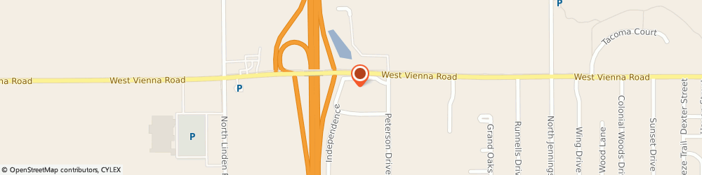 Route/map/directions to Budget Truck Rental, 48420 Clio, 4323 WEST VIENNA ROAD