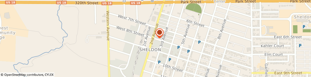 Route/map/directions to Family Table Restaurant, 51201 Sheldon, 207 8Th St