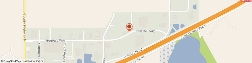 Route/map/directions to Menzel Graphics, 53590 Sun Prairie, 868 PROGRESS WAY