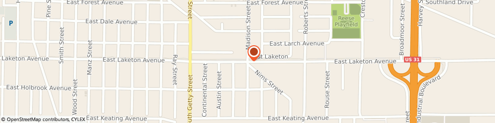 Route/map/directions to Bishop Heating & Air Conditioning Co, 49442 Muskegon, 2150 E. Laketon Ave