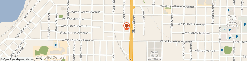 Route/map/directions to TV Shoppe, 49441 Muskegon, 1736 Beidler Street