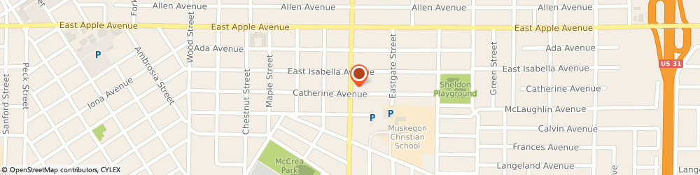 Route/map/directions to Bowen Refrigeration, Heating & Cooling, 49442 Muskegon, 1152 S Getty St