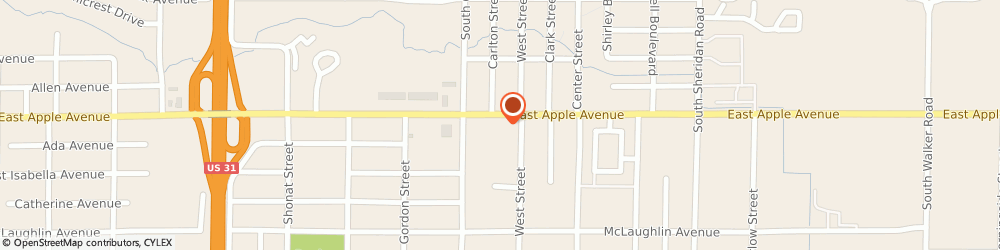 Route/map/directions to Wendy's, 49442 Muskegon, 2071 E. Apple