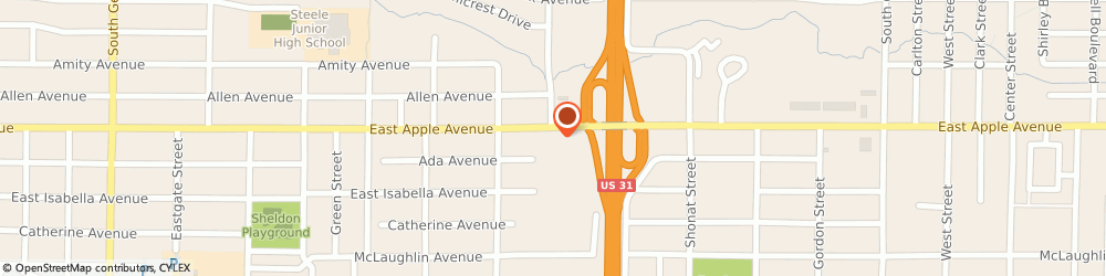 Route/map/directions to McDonald's, 49442 Muskegon, 1491 Apple Avenue