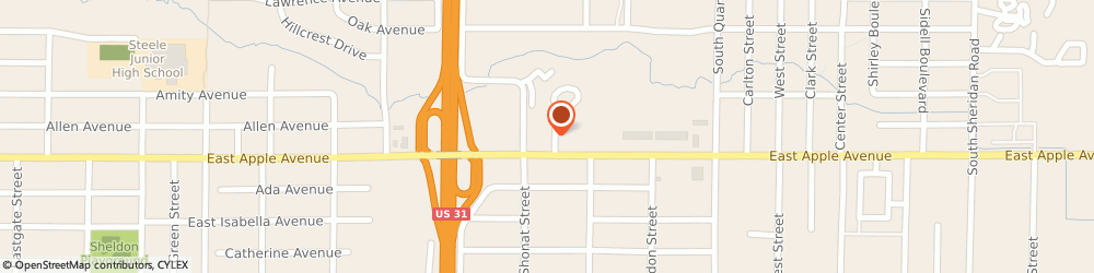 Route/map/directions to Arby's, 49442-4243 Muskegon, 1746 E Apple Ave