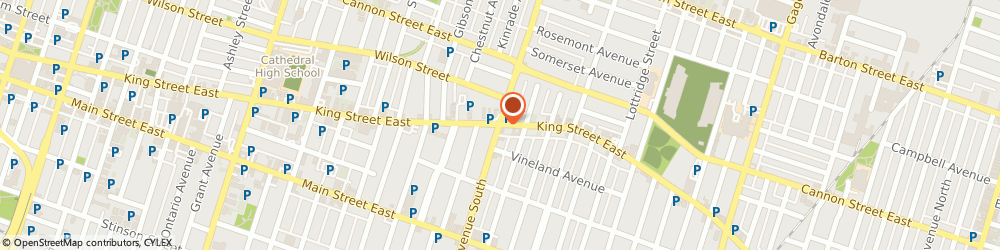Route/map/directions to SCOTIABANK, L8M 1B8 Hamilton, 924 King Street East At Sherman