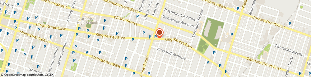 Route/map/directions to Bank Of Nova Scotia - King & Sherman, L8M 1B8 Hamilton, 924 KING STREET EAST