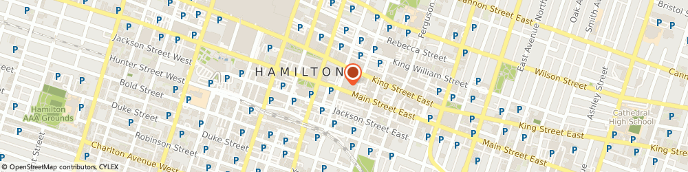 Route/map/directions to Wentworth Financial Services, L8N 1G6 Hamilton, 105 Main St E