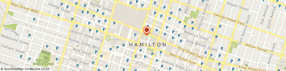 Route/map/directions to SCOTIABANK, L8N 4G9 Hamilton, 12 King Street East