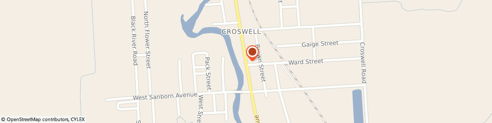 Route/map/directions to Rexfords IGA, 48422 Croswell, 54 North Howard Avenue