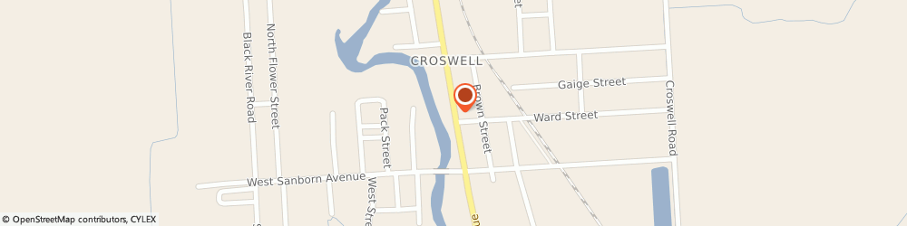 Route/map/directions to Ehardts Pharmacy & Medical Supply - Crswl, 48422 Croswell, 57 NORTH HOWARD AVENUE