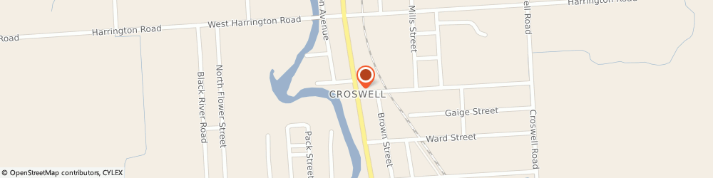 Route/map/directions to Dela Cruz Ricardo b Md, 48422 Croswell, 110 NORTH HOWARD AVENUE