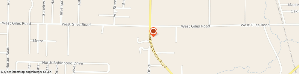 Route/map/directions to Optics Plus, 49445 Muskegon, 1343 WHITEHALL ROAD