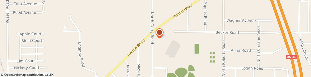 Route/map/directions to Wendy's, 49445 Muskegon, 1756 N. Getty Road