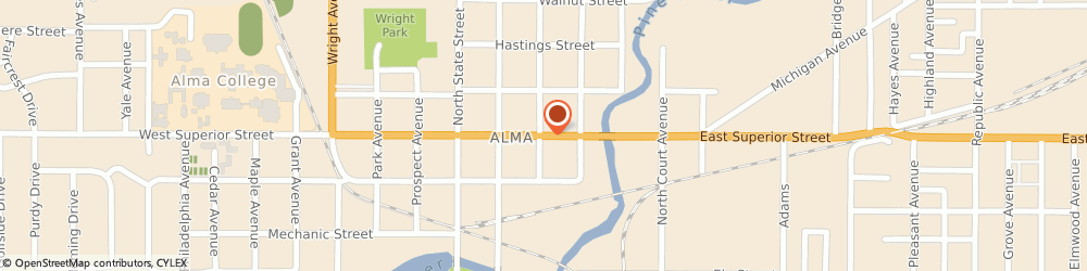 Route/map/directions to Culligan Alma, 48801 Alma, 307 East Superior Street