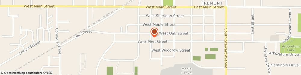 Route/map/directions to New Focus, 49412 Fremont, 212 SOUTH SULLIVAN AVENUE