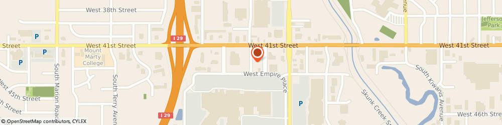 Route/map/directions to TEXAS ROAD HOUSE, 57106 Sioux Falls, 4307 W. Empire Place
