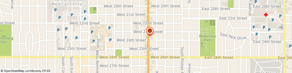 Route/map/directions to Slim Chickens, 57105 Sioux Falls, 1517 South Minnesota Ave.