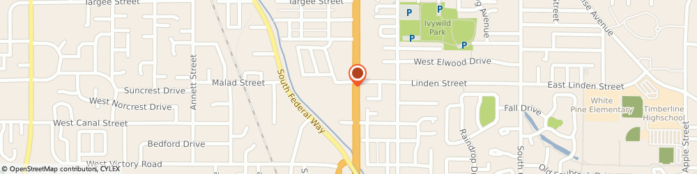 Route/map/directions to Jack in the Box, 83706 Boise, 2611 S Broadway Ave