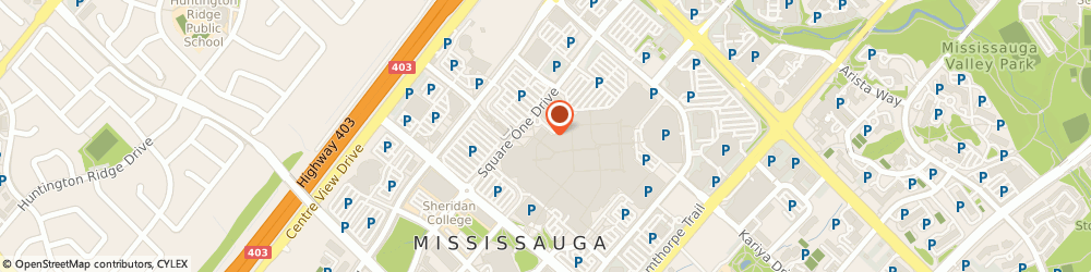 Route/map/directions to LensCrafters, L5B 2C9 Mississauga, 100 City Centre Dr