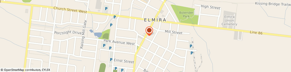 Route/map/directions to Mds Laboratories, N3B 2M6 Elmira, 63 Arthur St S