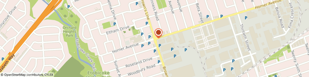 Route/map/directions to Ultramar Gas Bar, M8W 3V2 Etobicoke, 500 BROWNS LINE