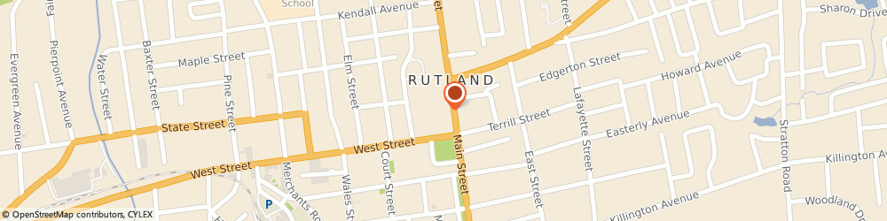 Route/map/directions to Wendy's, 05701 Rutland, 21 N. Main Street